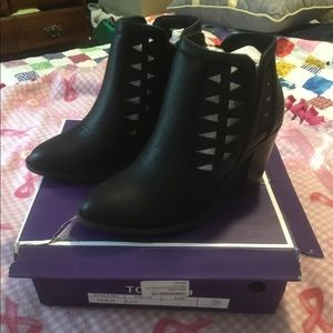 Top Moda Black Booties New in box
